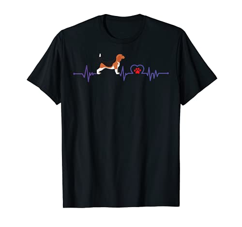 Funny Beagle Hound - Heartbeat With Food Print and Beagles T-Shirt