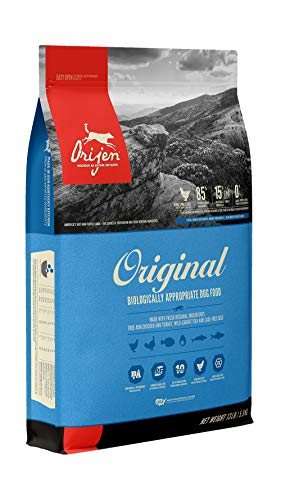 ORIJEN Dry Dog Food for All ages, Original, Grain Free, High Protein, Fresh & Raw Animal Ingredients, 13lb