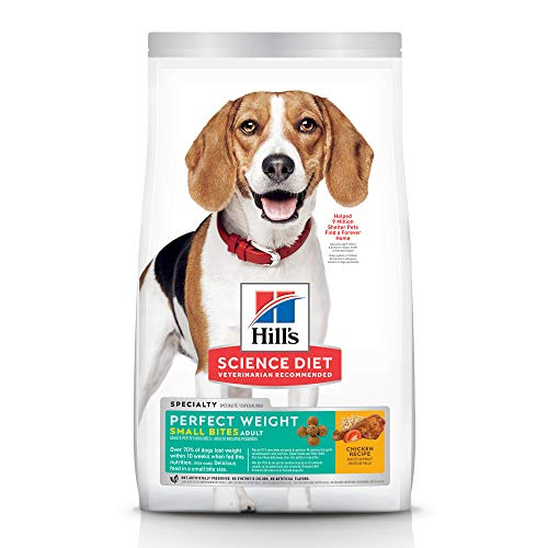 Hill's Science Diet Dry Dog Food, Adult, Small Bites, Perfect Weight for Weight Management, Chicken Recipe, 15 lb. Bag