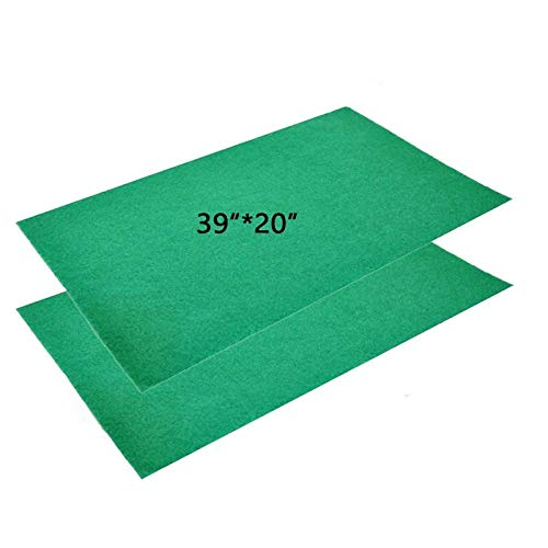 Tfwadmx 39' X 20' Reptile Carpet Mat Substrate Liner Bedding Reptile Supplies for Terrarium Lizards Snakes Bearded Dragon Gecko Chamelon Turtles Iguana (2 Pack)