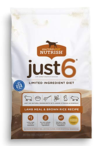 5. Rachael Ray Nutrish Just 6 Natural Dry Dog Food, Limited Ingredient