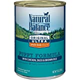 1. Natural Balance Puppy Formula Canned Wet Dog Food