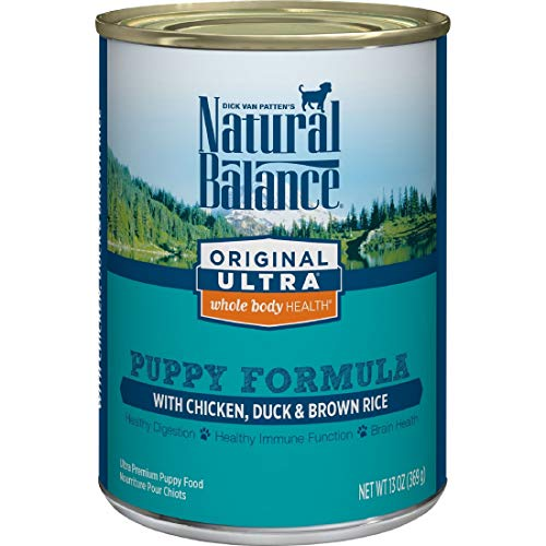 Natural Balance Original Ultra Whole Body Health Puppy Wet Dog Food, Chicken, Duck & Brown Rice Formula, 13 Ounce Can (Pack of 12)