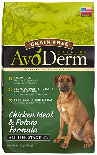 AvoDerm Natural All Life Stages Dry & Wet Dog Food, Grain Free, Chicken & Vegetables Recipe