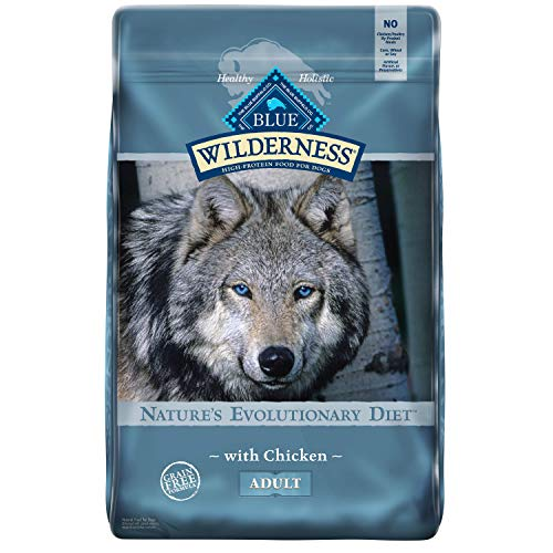 4. Blue Buffalo Wilderness High Protein Grain Free, Natural Adult Dry Dog Food