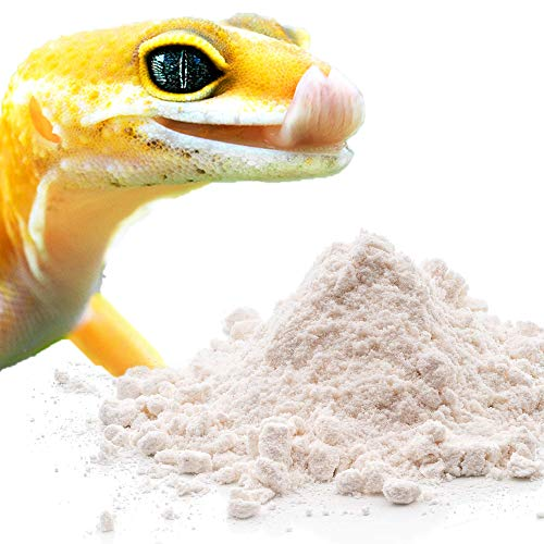 Meric Reptile Calcium Powder, Ideal for Leopard Geckos, Chameleons, Iguanas, Turtles, and More, Avoid D3 Overdose in Bearded Dragons, Lizards Love It Great for Free Feeding, 50g
