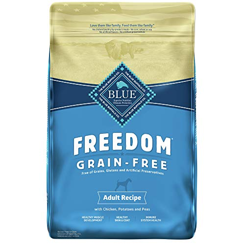 2. Blue Buffalo Freedom Grain Free Natural Adult Dry Dog Food